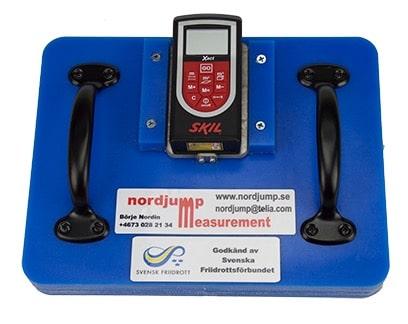 Electronic measurement equipment shot put