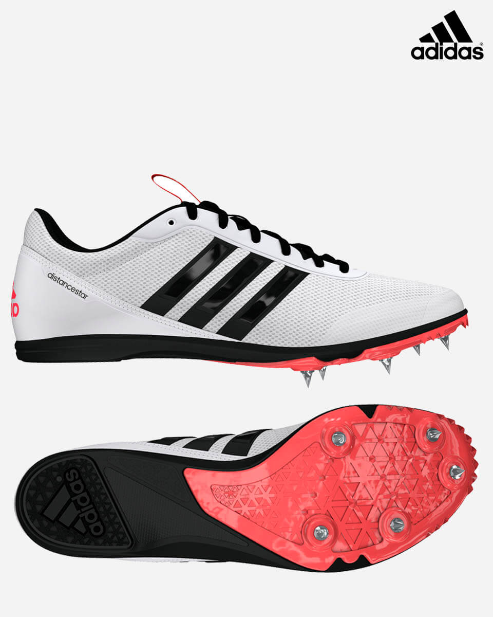 sports shoes 2165d 5f43b Adidas Distancestar-White Black Red