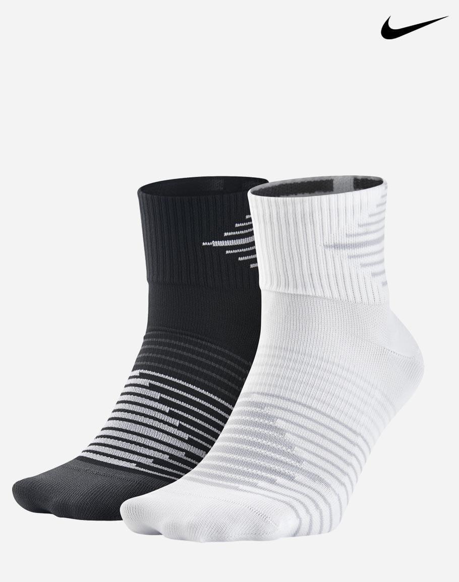 Nike Quarter running socks, 2-pack