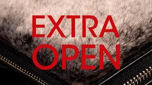 Extra öppet lördag 18 juli 2