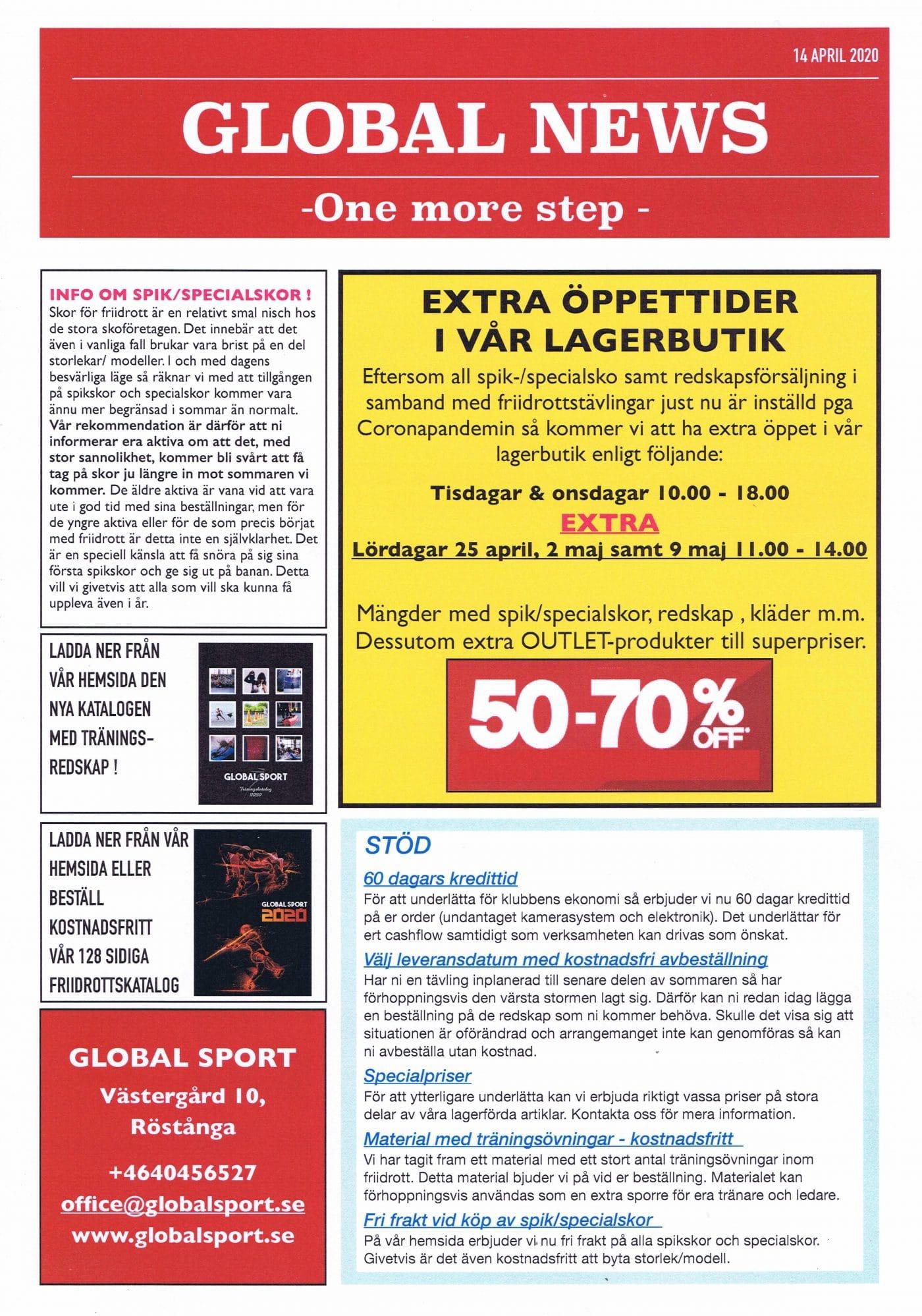 Global Sport News - Viktig information 8